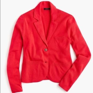 J crew cropped sweater-blazer